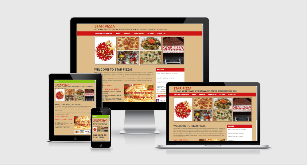 Go Star Pizza website