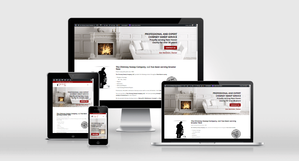 The Chimney Sweep Co website